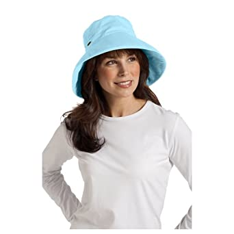 Coolibar UPF 50+ Women's Everyday Cotton Sun Hat - (One Size - Aqua Pool)
