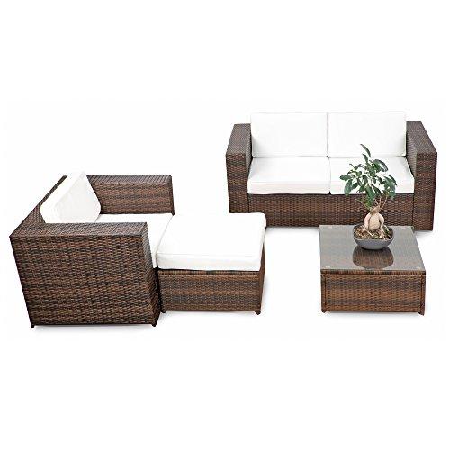 erweiterbares-12tlg-Rattan-Lounge-Mbel-Balkon-Sitzgruppe-braun-mix-Garnitur-Gartenmbel-Lounge-Mbel-Set-Balkon-inkl-Lounge-Sofa-Sessel-Hocker-Tisch-Kissen