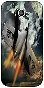 Snoogg fighter jet Designer Protective Back Case Cover For Micromax A116