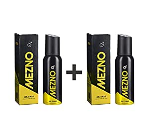 Mezno Mr. Swag - Long Lasting Fragrance Deodorant Body Spray For Men - 24 Hrs Fresh Power - No Gas Deo - 120ml (Buy 1 Get 1 Free )