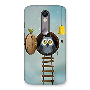 Enticing Raining Leader Owl Back Case Cover for Moto X Force