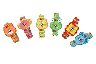 Wooden Children Toy Watch / Party Bag By AM Leg