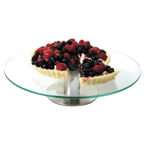 Fat Daddio's Tempered Glass Cake Stand, 12-Inch Diameter by 2.7-Inch Height