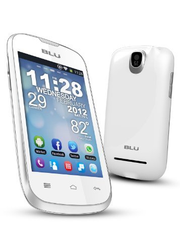BLU Dash 3.5 D170a White Unlocked Dual SIM Phone with 1GHz Processor, Android 2.