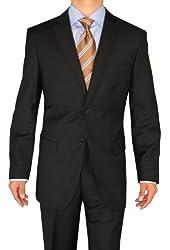Fuomo Business Classic Men's Suit 2 Button Black