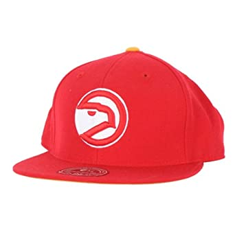 Mitchell and Ness - Atlanta Hawks Fitted Hat in Team Primary Color by Mitchell & Ness
