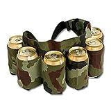 最大6個のビール缶を常に携帯出来る 【ビール缶ホルスターベルト】 BBQ・野外イベント・サバゲー・プレゼント用などに最適です 米国で大人気! 迷彩柄 並行輸入品