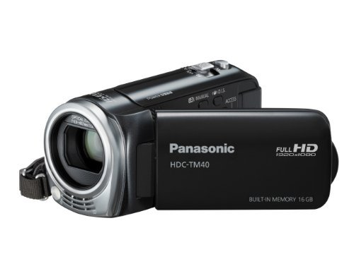 Panasonic HDC-TM40 16GB camcorder with 16GB Internal Flash Memory (Black)