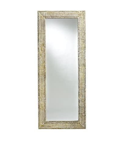 Bambeco Antique Tin Waffle Dressing Mirror, Natural