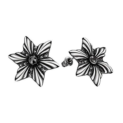 aomily-gioielli-18k-oro-placcato-stud-earrings-orecchini-per-le-donne-snowflake-nero-nero