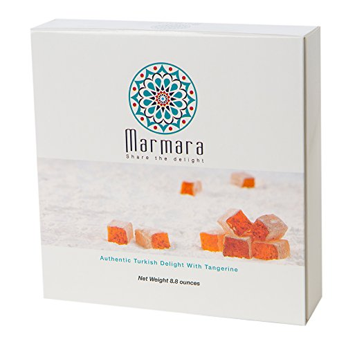 Marmara Authentic Turkish Delight with Tangerines / Sweet Confectionery Gourmet Box Candy Desert (Large) Net weight 8.8 ounces (Turkish Bread compare prices)