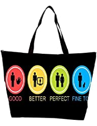 Snoogg Good Better Perfect Fine Too Waterproof Bag Made Of High Strength Nylon
