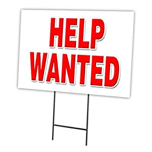 Amazoncom HELP WANTED 18x24 Yard Sign Stake outdoor