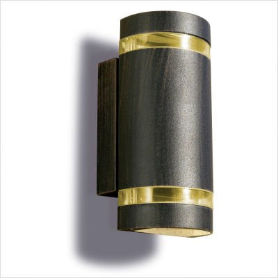 Leds C4 Outdoor Lighting Selene Wall Light, Injected Aluminium with Transparent Glass and PMMA Diffuser, Brown