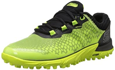 2014 Skechers GO BIONIC Lightweight Spikeless Mens Waterproof Golf Shoes Lime/Black 7UK