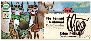 Theo Chocolate Dark Choc,Fig Fennel W/Almonds, 2-Ounce (Pack of 12)