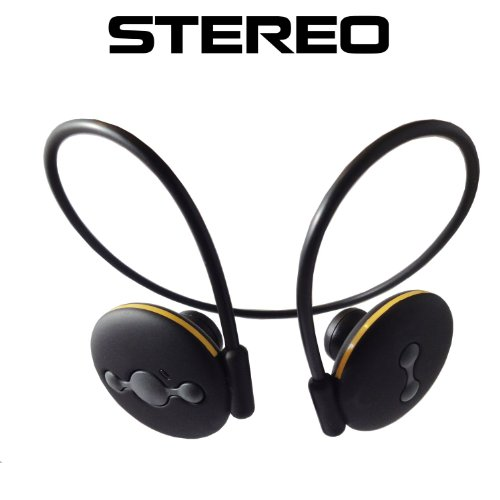 Avtak Black Jogger Wireless Stereo Bluetooth Headset With Built-In Mic For All Samsung Phones With Free Wall And Car Charger. Galaxy S4 Galaxy S4 Mini Galaxy S3 Galaxy S2 Galaxy Active, Core, Trend Galaxy Exhibit, Mega, Win, Note Galaxy Tab Galaxy Pocket,