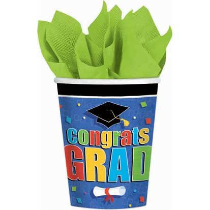 Commencement Celebration Paper Cups 18ct.