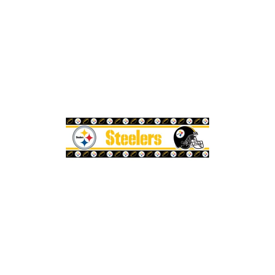 NFL PITTSBURGH STEELERS LR WALL BORDER