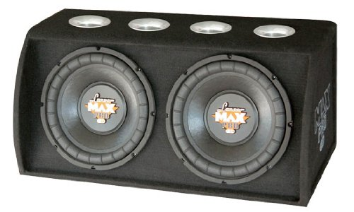 Lanzar MXBB122 Max Pro Dual 12-Inch 2400 Watt High Power Ported Subwoofer Enclosure