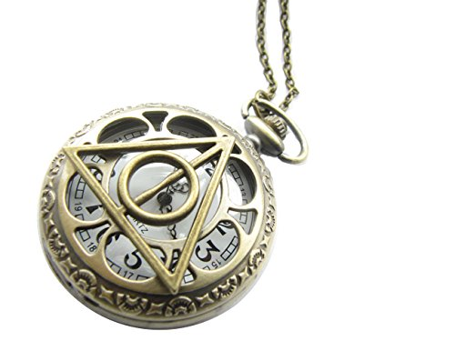 Harry potter pocket watch necklaceluna lovegood pocket watch description aloadofball Image collections