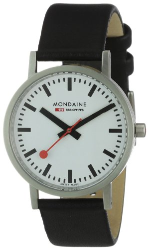 Mondaine Men's A660.30314.16SBB Quartz Classic Leather Band Watch