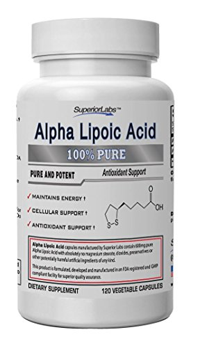 #1 Alpha Lipoic Acid - Powerful 600Mg, 120 Vegetable Capsules - Made In Usa, 100% Money Back Guarantee