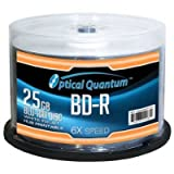 OPTICAL QUANTUM OQBDR06WIP-H-50 25GB 6XBD-R WHITE INKJET HUB PRINTABLE 50PK