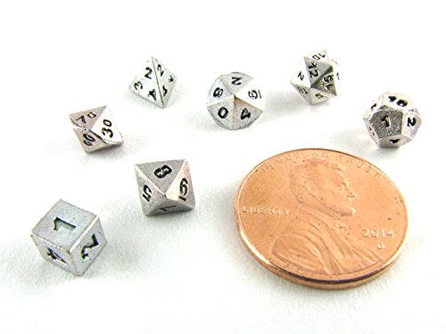 Silver Plated Polyhedral 7-Die Set (Very Small)
