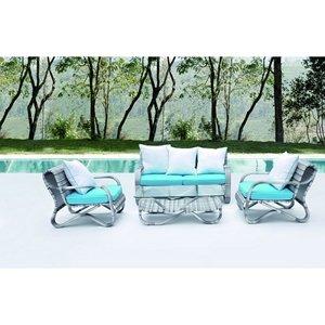 Crescent Outdoor Wicker Patio 4 Piece Sofa Set