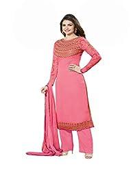 VinayTM Prachi Desai Luxurious Party Wear Thread Work Georgette Semi-stitched Trendy Salwar Suit