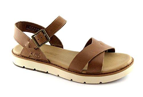 TIMBERLAND BAILEY A1431 marrone park cross scarpe donna sandali fibbia 37