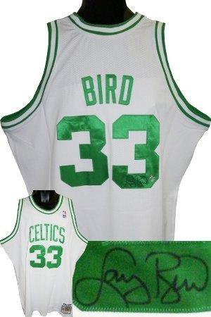a4005e84c ... italy revolution 30 mens larry bird 33 boston celtics green swingman throwback  jersey xl autographed larry