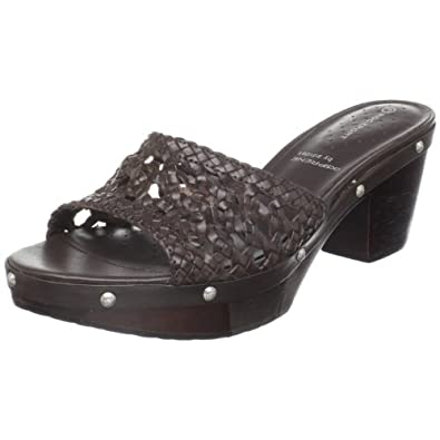 Rockport Women's Meja Clog Sandal Dark Brown Casual K55997 6.5 UK