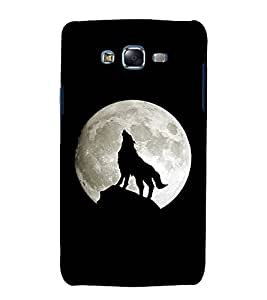 printtech Wolf Howling Nature Back Case Cover for Samsung Galaxy Grand 2 G7102 / Samsung Galaxy Grand 2 G7106