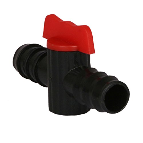 Pepper Agro DIP1037A 16mm Drip Irrigation Straight Connector With Tap (10 Qty)