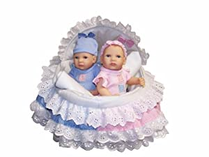 Amazon Com Bellini 12 Quot Twin Baby Doll Set In Moses