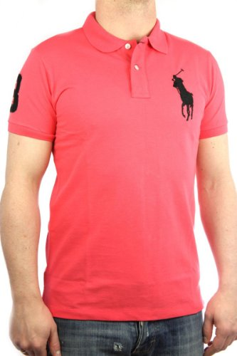Polo by Ralph Lauren Big Pony Mens Polo-Shirt coral, slim fit, men shirt
