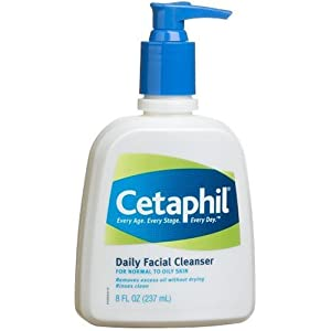 Cetaphil Daily Facial Cleanser For Normal to Oily Skin, 8-Ounce Bottles (Pack of 3)