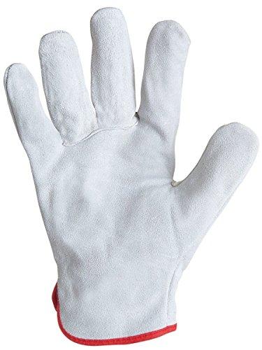 """Leather Glove .Tutte CROA """"bestiame voi. Naturale. Ã © serraggio elastico. Cantante 56S Taglia 10"""