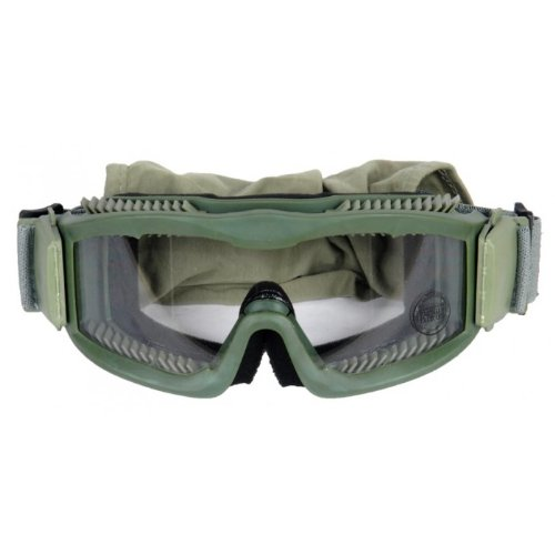 Lancer Tactical CA-221G Clear Lens Vented Safety Airsoft Goggles (OD Green), Maxiumum Protection & Air Flow