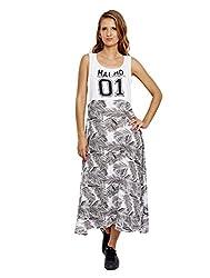 Jalebe Women's Maxi Dress_INDTJBL005_White_M