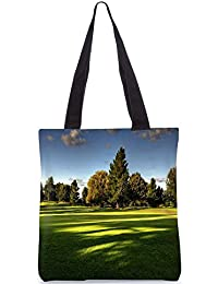 Snoogg Tress In Park Digitally Printed Utility Tote Bag Handbag Made Of Poly Canvas