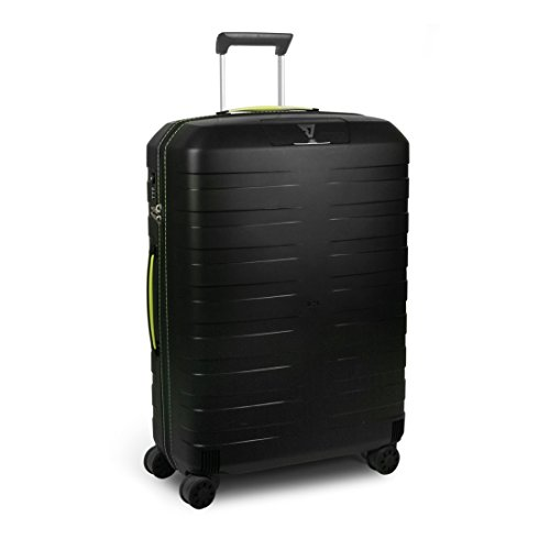 Trolley Medio Roncato | 4 Ruote 69 cm | linea Box | 5512-lime/nero