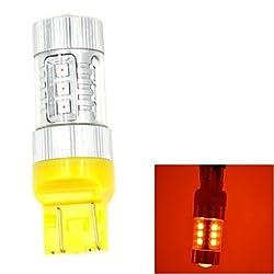 See JMT407 T20-7443 80W 680LM 16-LED Yellow Car Steering / Reversing / Brake Light (DC12-24V) Details