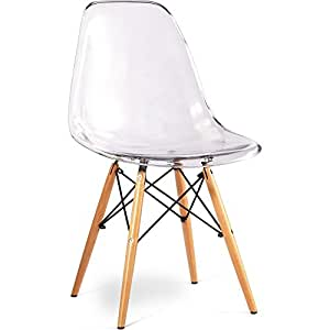 acrylic dsw chair inspired by eames transparent