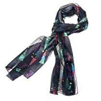 Purple Box Jewelry Christmas Tree Scarf One Size (Black)
