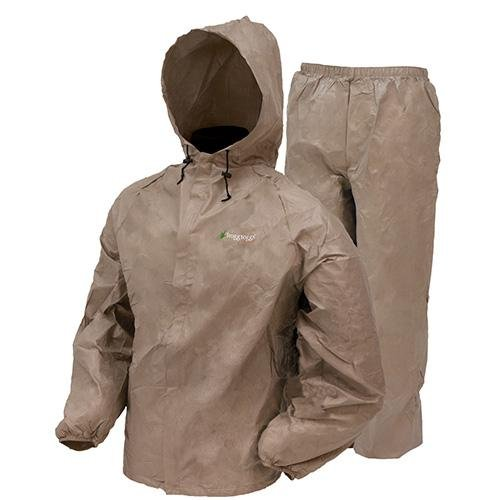 Frogg Toggs Men's Ultra Lite Rain Suit, Khaki, Medium