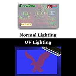 10 x Adhesive Holographic Overlay for Standard Size ID Cards | Corporate ID Design with UV Eagle