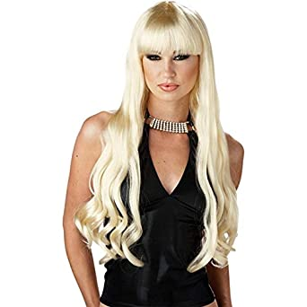 Standard Size Adult Blonde Serpentine Wig - Great for Mermaids, 80's costumes and Many Uses! - Blonde